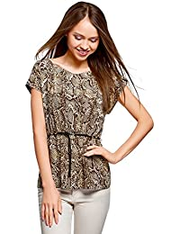 Amazon.it  Animalier - Bluse e camicie   T-shirt bcafc8772b7