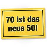 DankeDir! 70 ist Das Neue 50- Kunststoff Schild, Geschenk 70. Geburtstag, Geschenkidee Geburtstagsgeschenk Siebzigsten, Geburtstagsdeko/Partydeko / Party Zubehör/Geburtstagskarte