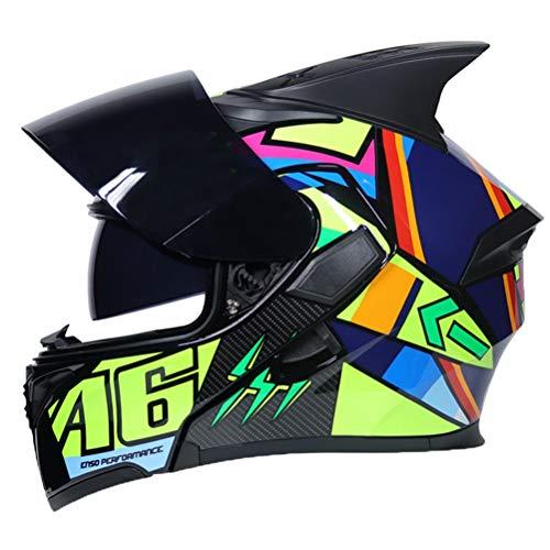 Uomini casco moto modulare donne flip casco integrale Racing doppio obiettivo anti nebbia Motocross Caschi Professional Racing Off Road moto tappi di sicurezz