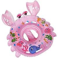 Inflable de Piscina Nadar Anillo Cangrejo Forma Anillo de natación para Bebe Infant