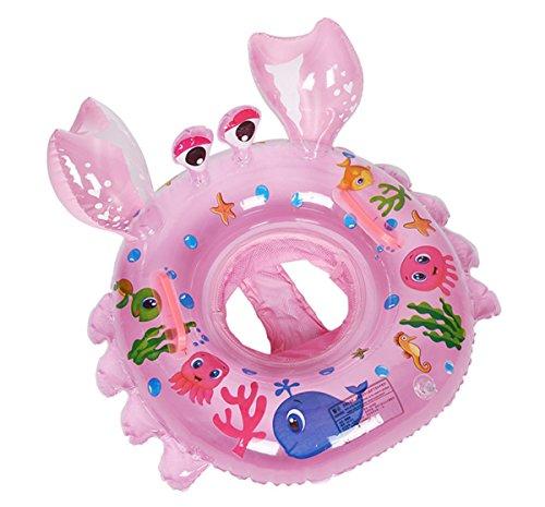 1pc granchio anello di nuotata per bambini diametro 54cm 1-5 anni (rosa)