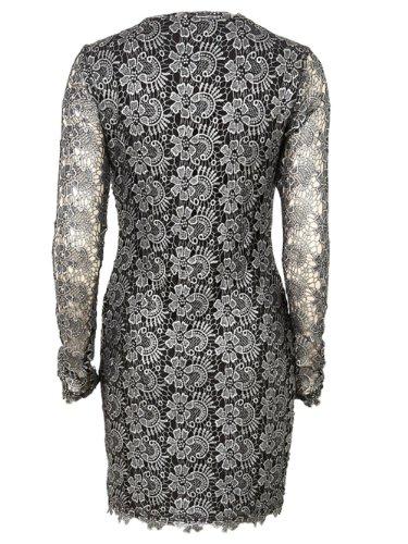 VILA Damen Kleid  Schlauch Schwarz (Black)