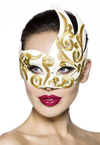 Asymmetrische Kostüm Ball-Maske im Ornament-Design A13589-1, (Sache Kostüm 1 Muster)