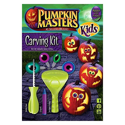 Pumpkin Carving Kit Kürbis Schnitz Set + Schablonen Heft Augen Deko