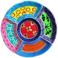 Plato para tapas de porcelana pintada a mano, Zarina Rosa