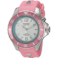 KYBOE! 'Power' Quartz Stainless Steel and Silicone Casual Watch, Color:Pink (Model: KY.48-028.15)