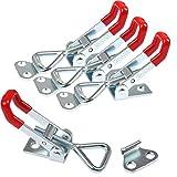 YOTINO Metall Spannverschluss GH-4001, 4PCS Hebel Verschluss, Spannverschluss, Klein Kniehebelspanner Verstellbar, Halten Kapazität Latch Button Toggle Latch 100kg, Kistenverschluss