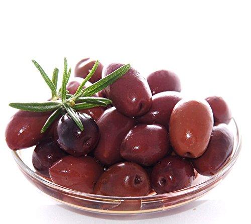 Kalamata Oliven im 3 Liter Kanister - Giants - Eingelegt in Salzlake und Essig (1500g Abtropfgewicht)