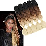 Best Acheter Box Hairs - 6PC/Lot 61 cm synthétiques Ombre Kanekalon Jumbo tressage extension Review