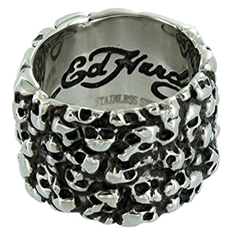 Bague en acier inoxydable ED HARDY Skulls–Taille 13(22,2mm) (& # x2205; 69.7mm)