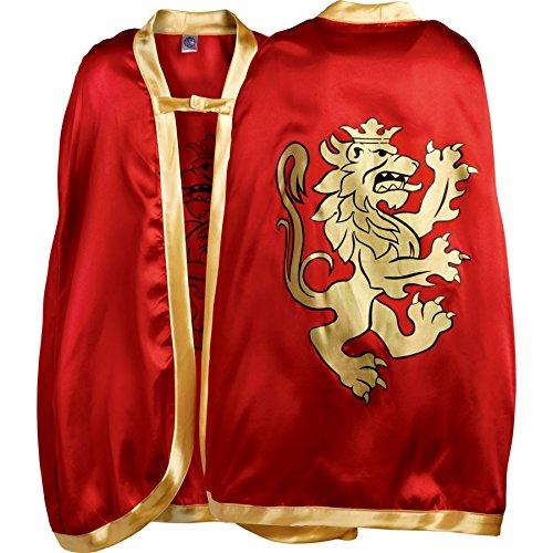 Für Ritter Erwachsenen Tafelrunde Kostüm Der - Liontouch 10351LT Mittelalter Edler Ritter Umhang für Kinder (Rot)
