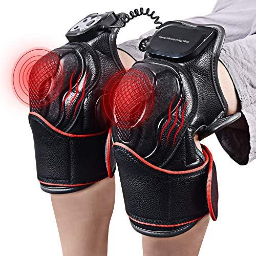 Preisvergleich Produktbild Lovevv Knie Magnetic Vibration Heizung Massager Joint Physical Therapy Massage elektrische Massage Schmerzlinderung Rehabilitation Ausrüstung Pflege,  schwarz
