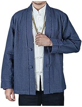 KIKIGOAL Chinoiserie Mantel Tang-Anzug Jacke für Männer Chinesische Kleidung Flachs für Sommer und Helbst