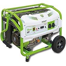 Groway GEN 5500B - Generador eléctrico a gasolina de 389 cc, 5500 W, 230 V, monofásico con arranque manual