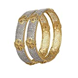 Cardinal Traditional American Diamond Stylish Party Wear Latest Design Bangles Jewellery For Women/girl(Pack of 2)