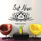 Wandtattoo Ornament Indisch Mantra Yoga Namaste Lotus Blume Om Buddha Vinyl Schlafzimmer Wandtattoo Wandsticker Wandbilder