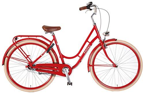 28 Zoll Popal Swing 2835 Damen Holland Fahrrad Aluminium 3 Gang, Farbe:rot
