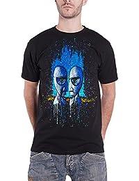 Pink Floyd T Shirt Division Bell Drip Splatter Band Logo offiziell Herren Nue
