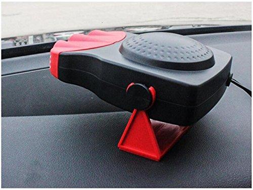 STEAM PANDA Roter Auto-Heizung 12v 150w Defroger Defroster tragbarer Ventilator mit Defrosts Installation: Anti-Rutsch-Matte oder doppelseitiger Klebstoff fixiert Gewächshaus-ventilator Thermostat