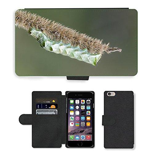 Just Mobile pour Hot Style Téléphone portable étui portefeuille en cuir PU avec fente pour carte//m00139820Caterpillar insectes Nature Fond//Apple iPhone 6Plus 14cm