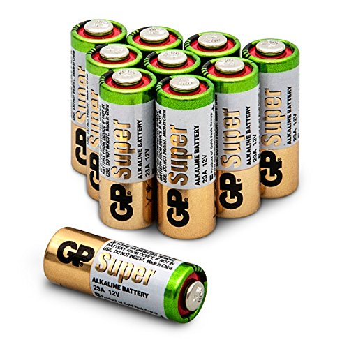 Batterien 23A (A23/MN21/V23GA/MS21) 12V Batterie, Alkaline High-Voltage, Spannung 12 Volt, 10 Stück Batterien im Multipack (GP Batteries Markenprodukt)