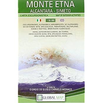 Monte Etna. Carta Escursionistica 1:50.000 (Cm 97X67)