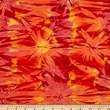 Benartex Bali Batiks Colorama II Cloud Flame Fabric Stoff,