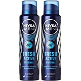 Nivea Fresh Active Original (300 ML, Pack Of 2) Longlasting Deodorant Spray - For Men (300 Ml, Pack Of 2)