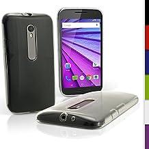 igadgitz u3987funda TPU para Motorola Moto G 3A generación XT1540Case Carcasa con protector–transparente