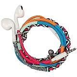 Écouteurs Oreillettes Intra-Auriculaires, URIZONS Écouteurs Filaires Sonore Stéréo avec Microphone avec Jack 3,5mm pour Tablette, Android Smartphone, MP4, MP3 Lecteurs Tissu à la Main en tressage
