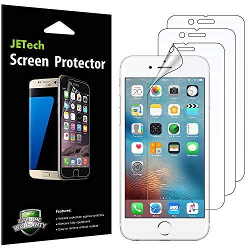 JETech Schutzfolie für iPhone 6s und iPhone 6, PET Displayschutzfolie, HD Klar, 3 Stück