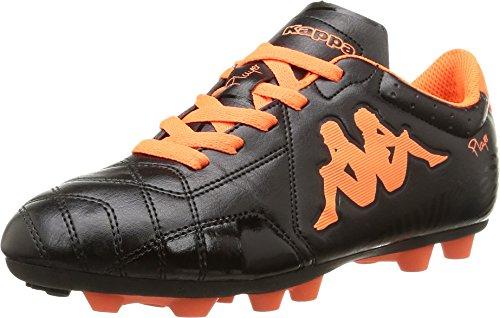 Kappa 4Soccer Player FG, Botas de fútbol para Niños, Negro-Noir 906/Black/Orange/Orange, 37 EU