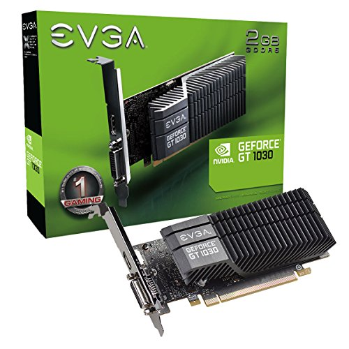 EVGA GeForce GT 1030 SC 2GB GDDR5 Passive, Low Profile Scheda Grafica 02G-P4-6332-KR