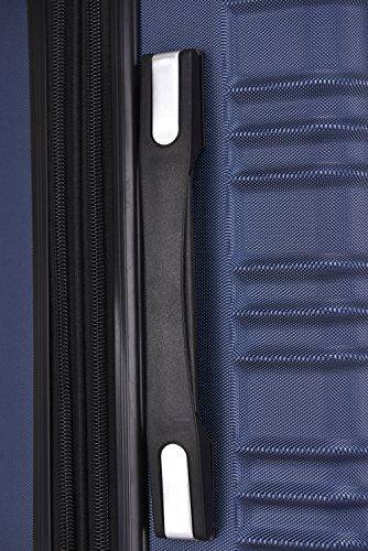 BEIBYE 2088 Zwillingsrollen Reisekoffer Koffer Trolleys Hartschale M-L-XL-Set in 13 Farben (Dunkelblau, XL) - 7