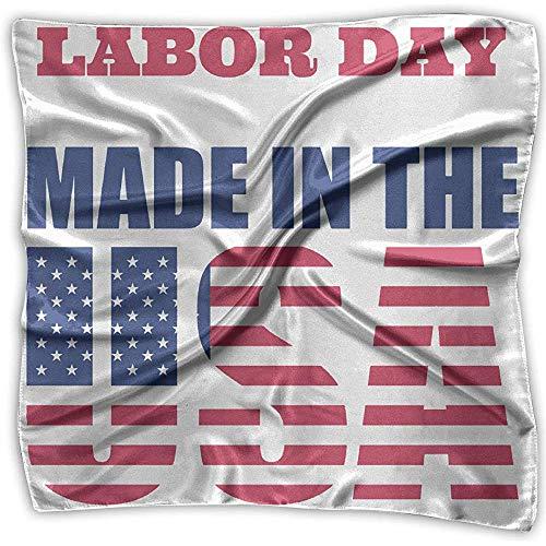 Labor Day Made in US Square Scarf - Kopftuch mit verschiedenen Mustern für Damen Kopfschmuck 100% Polyester -