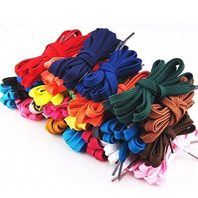 OULII 12 paar Ersatz flache Schnürsenkel Strings für Sportschuhe (verschiedene Farben)