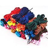 PIXNOR – 12pares de cordones planos de repuesto para zapatillas deportivas, botas, tenis y patines (colores surtidos)