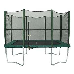 Rebo Trampoline Fun Jump Rectangulaire 3 m x 2,13 m avec filet de sécurité