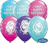 Unbekannt Qualatex Latex-Ballons, 18676,Disney, Die Eiskönigin – Völlig unverfroren, Geburtstag, besonderes Sortiment, 27,9cm