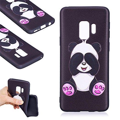 Ooboom® Samsung Galaxy S9 Hülle TPU Silikon Matt Gummi Gel Weich Handy Tasche Case Cover Flexibel Ultra Dünn für Samsung Galaxy S9 - Panda -