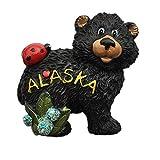 MUYU Magnet Aimant de réfrigérateur 3D en Forme d'ours de l'Alaska USA pour Souvenir de la Maison et de la Cuisine