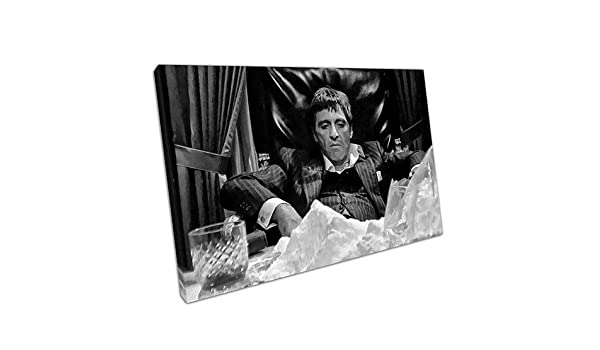A2-24 x 16 Inch EACanvas Kunstdruck auf Leinwand Motiv American Gangster Tony Montana Scarface