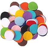 Almohadillas de fieltro redondas de colores 500piezas no tejido mezclado formas DIY Craft Costura círculos flores flores decoración círculos 1.5cm