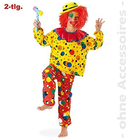 FASCHING 11395 Kinder- Kostüm Clown Jupp, 2tlg., Oberteil + Hose: Größe: 164