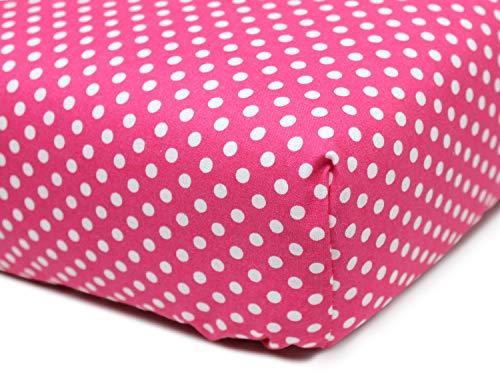 Emily´s Check Kinder Spannbettlaken - fein gewebt - Farbauswahl 465.546, 70 x 150 cm, Fuchsia -