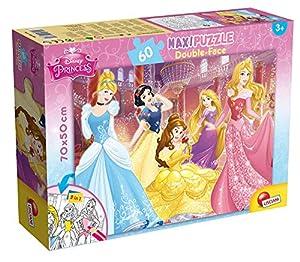Lisciani Giochi - Puzzle Princesas 60 piezas. Doble cara y coloreable (42665)