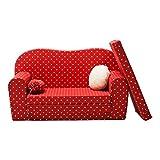 Gepetto Maxi Kinder Schlafsofa rot zum ausklappen mit extra Matratze