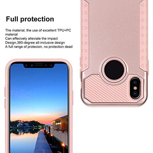 TOROTON 2 Pezzi Pellicola Vetro Temperato Per Apple iPhone X, Vetro Temperato Infrangibile HD Trasparenza Film Proteggi Schermo Screen Protector Resisitente Oro Rosa + Oro Rosa