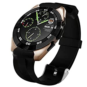 Jiyanshi NB1 Bluetooth Smart Watch (Golden) with SIM Card Support/ Camera/ Sedentary Reminder SIM Card Slot/ Call SMS Sync Feature Compatible for Asus Fonepad 7 FE375CL