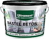 Ultrament Bastel-Beton, hochwertiger Gießbeton perfekt für kreative Deko Gestaltungen, 3,5 kg (nur zum Gießen)
